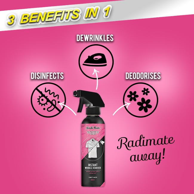 1PC RADIMATE - INSTANT WRINKLE REMOVER - SWEET MUSK - RM19.00