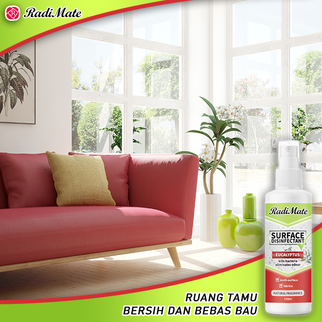 1PC RADIMATE SURFACE DISINFECTANT - EUCALYPTUS - 100ML - RM17.00