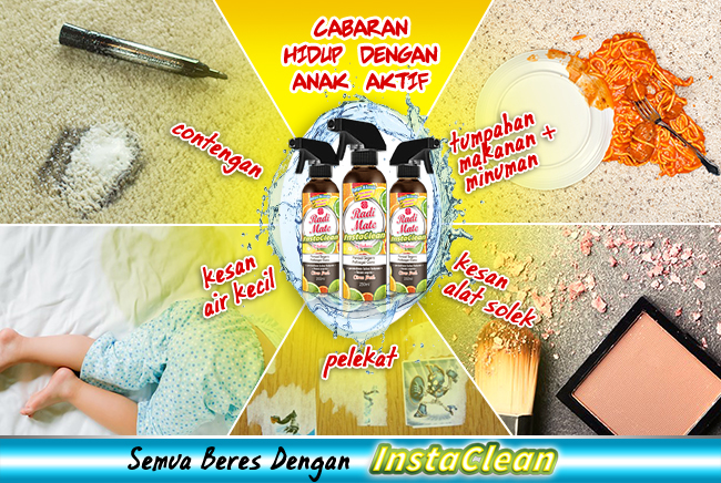3PCS INSTACLEAN - MULTIPURPOSE CLEANER - RM55.00