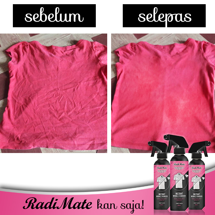 3PCS RADIMATE - INSTANT WRINKLE REMOVER - SWEET MUSK - RM55.00